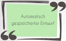Automatisch gespeicherter Entwurf